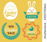 easter day vector logo for... | Shutterstock .eps vector #1053745661
