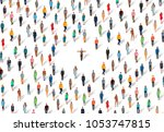 the choice among people for the ...   Shutterstock .eps vector #1053747815