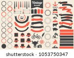 ribbon vintage vector logo for... | Shutterstock .eps vector #1053750347