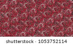 seamless floral pattern in... | Shutterstock .eps vector #1053752114