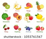 set of named vector flat icons... | Shutterstock .eps vector #1053761567