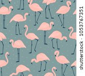 seamless pattern with birds. a... | Shutterstock .eps vector #1053767351