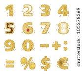 cookies numbers set   Shutterstock .eps vector #105378269