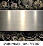 background metallic with... | Shutterstock .eps vector #1053791489