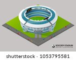 football soccer field stadium... | Shutterstock .eps vector #1053795581