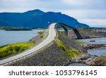 norway atlantic ocean road or... | Shutterstock . vector #1053796145