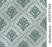 damask seamless pattern for... | Shutterstock .eps vector #1053797369