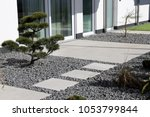 modern decorative garden with... | Shutterstock . vector #1053799844