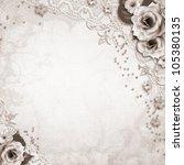 elegance silver frame for  photo | Shutterstock . vector #105380135