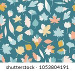 seamless pattern with colorful... | Shutterstock .eps vector #1053804191