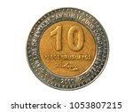 Small photo of 10 Pesos coin, 150 death year General Jose Artigas, Bank of Uruguay. Obverse, 2000