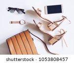 fashion blog concept on white... | Shutterstock . vector #1053808457