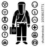 industry concept. black... | Shutterstock .eps vector #1053815771
