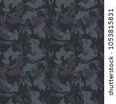 seamless fashion dark grey... | Shutterstock .eps vector #1053815831