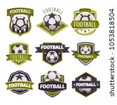 set of logos  emblems on the... | Shutterstock .eps vector #1053818504