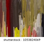 oil painting on canvas handmade.... | Shutterstock . vector #1053824069