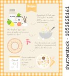 home cooking recipe. cooking... | Shutterstock .eps vector #1053828161