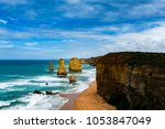 magnificence of twelve apostles ... | Shutterstock . vector #1053847049