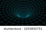 tunnel or wormhole. abstract...   Shutterstock .eps vector #1053850751