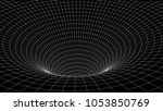 tunnel or wormhole. abstract...   Shutterstock .eps vector #1053850769