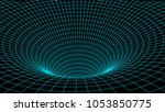 tunnel or wormhole. abstract... | Shutterstock .eps vector #1053850775