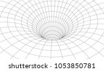 tunnel or wormhole. abstract... | Shutterstock .eps vector #1053850781