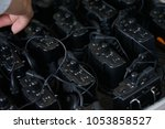 simultaneous translation... | Shutterstock . vector #1053858527