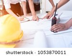 asia team architect or engineer ... | Shutterstock . vector #1053870011