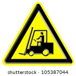 industrial trucks danger sign | Shutterstock . vector #105387044