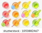 vector set. fresh orange  lemon ...   Shutterstock .eps vector #1053882467