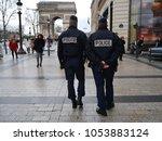 paris  france  02 14 2014  two... | Shutterstock . vector #1053883124
