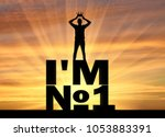 silhouette of a selfish and... | Shutterstock . vector #1053883391