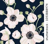 seamless pattern vector floral... | Shutterstock .eps vector #1053888974