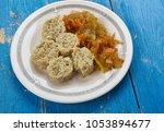 fiskbullar   common food in... | Shutterstock . vector #1053894677