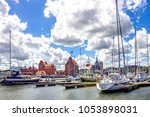 stralsund  old city  germany  | Shutterstock . vector #1053898031