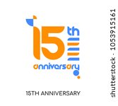 15th anniversary logo isolated... | Shutterstock .eps vector #1053915161