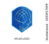 atlas logo image isolated on... | Shutterstock .eps vector #1053917099