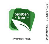 paraben free logo isolated on... | Shutterstock .eps vector #1053917171