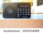 digital audio player mp3 and fm ... | Shutterstock . vector #1053918089