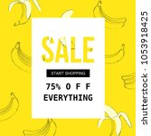 sale poster for shopping ... | Shutterstock .eps vector #1053918425