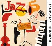 jazz music festival colorful...   Shutterstock .eps vector #1053920591