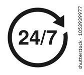 24 7 service open 24h hours a... | Shutterstock .eps vector #1053939977