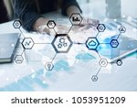 iot  automation  industry 4.0.... | Shutterstock . vector #1053951209