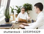 confident attractive woman ceo...   Shutterstock . vector #1053954329