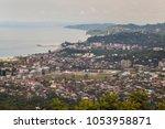 top view city batumi  located...   Shutterstock . vector #1053958871