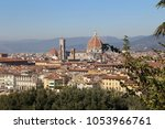 florence  italy in october of... | Shutterstock . vector #1053966761