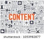 content   hand drawn vector...   Shutterstock .eps vector #1053982877