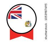 flag of british antarctic... | Shutterstock .eps vector #1053987695