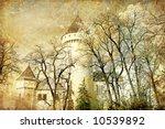 white fairy castle - stock photo