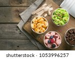 selection of different rolled... | Shutterstock . vector #1053996257